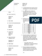 Calcula y Grafica El Sesgo e Interpreta Las Medidas de Tendencia Central de Los Siguientes Datos