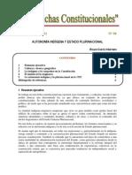 Autonomia Indigena y Pluralismo en La Cpe