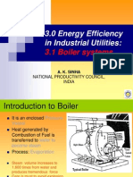 Mr. a. K. Sinha - Energy Efficiency Industrial Utilities - Boiler Systems