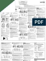 Leviton VP00R-10Z, VP00R-1LZ, VP0SR-10Z, VP0SR-1LZ Installation Manual and Setup Guide