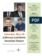 2013 Dueholm Dinner Flyer Burnett