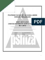 Minit Mesyuarat Bil 1 2012