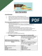 Study Guide for Exam