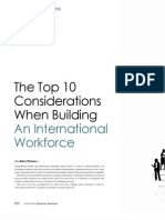 The Top Ten Considerations When Building an International Workforce