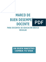 MARCO DE BUEN DESEMEPEÑO DOCENTE 2013