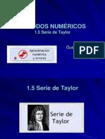 1.5 Serie de Taylor