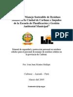 Manual de seguridad y protección personal en resíduos sólido