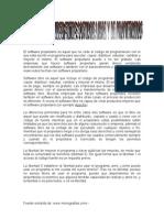 Diferencias Entre Sofware Libre y de Propietario