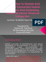 Introduction to Shariah and Financial Transaction