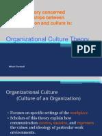 Organizational Culture Theory