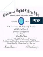 Diploma in Church Ministry