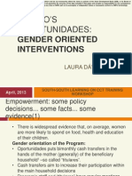 Mexico's Oportunidades Gender Oriented Interventions