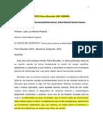 EL OFICIO DE CIENTÍFICO Pierre Bourdieu 2001 RESEÑA