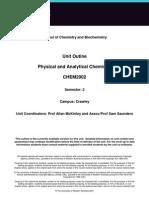 CHEM2002 Unit Outline 2012