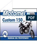Manual Del Usuario Motomel Custom 150