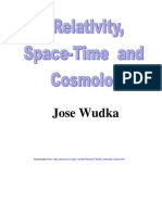 Relativity, Space-Time and Cosmology - J. Wudka