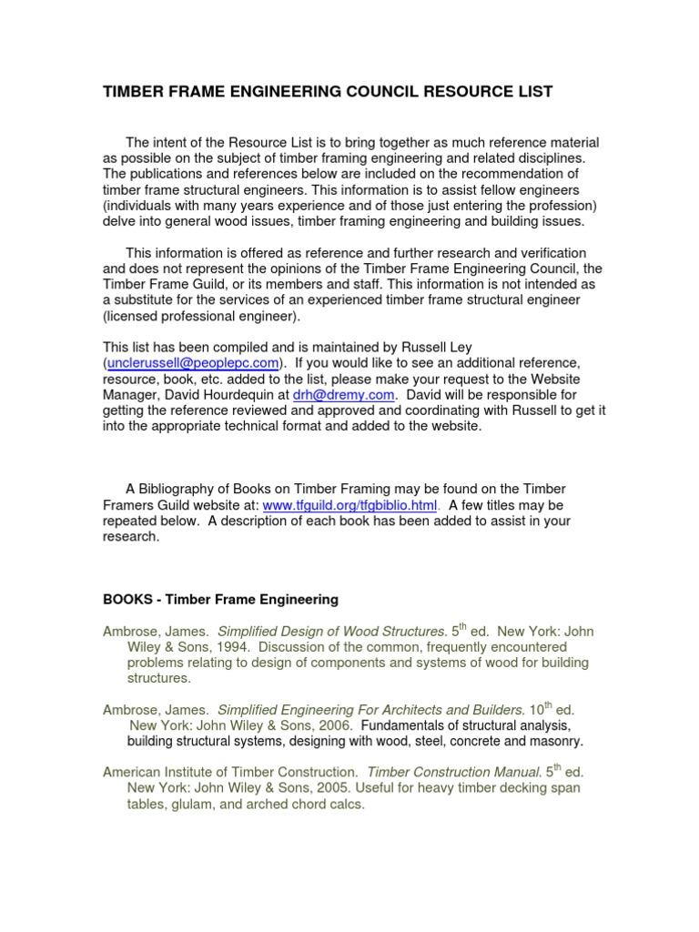 Engineering Resource List   Lumber   Framing (Construction)