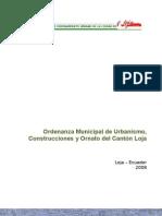Ordenanza Municipal de Urbanismo, Construcción y ornato del