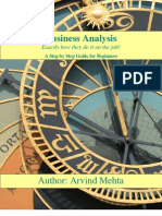 Business Analysis Book - Arvind Mehta