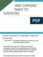Wk3 Slideshow Acute Responses to Exercise