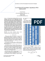 Design and Simulation of 32-Point FFT Using Radix-2 Algorithm for FPGA 2012