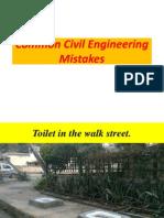 Common Civil Engineering Mistakes