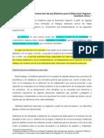 Camilloni a. Reflexiones Para La Construccion de Una Didactica Para La Educacion Superior