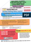 LGBT Heritage Month Creative Writing Video Contest