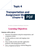 Topic 4 Transportation and Assignment Models _Chapter 9
