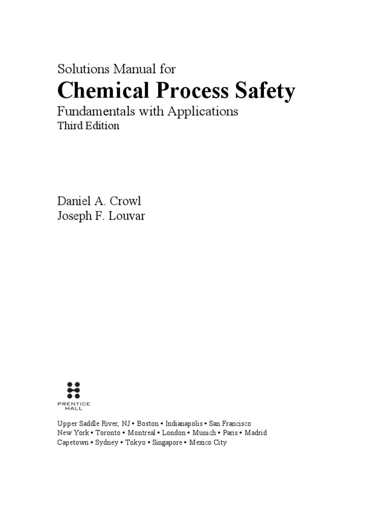 Solution manual chemical process safety 3rd edition fandeluxe Image collections