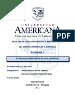 Auditoria - Objetivos de La Auditoria TRABAJO PRACTICO