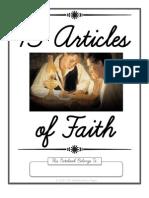 13 Articles of Faith Copywork in Cursive