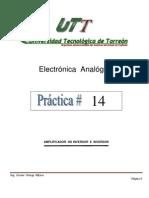 Práctica # 14   Electronica  Analogica