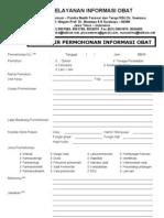 Form Pelayanan Informasi Obat