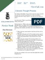 Dan Heisman chess article