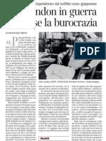 Jack London Sul Conflitto Russo-giapponese, Di Emanuele Trevi - Corriere Della Sera 22.04.2013