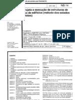 NBR 14 - Projeto e execução de estruturas de aço de edifícios