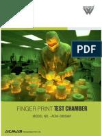 Finger Print Testing Chamber