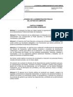 Ley Orgánica de la Administración Pública del Estado de Campeche