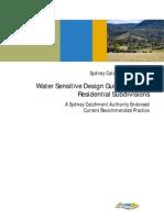 Water Sensitive Design for Rural Subdivision