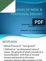 Neoplasms of Nose & Para Nasal Sinuses