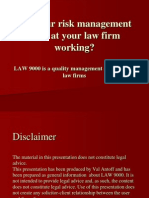 Are the risk management tools at your law firm working?