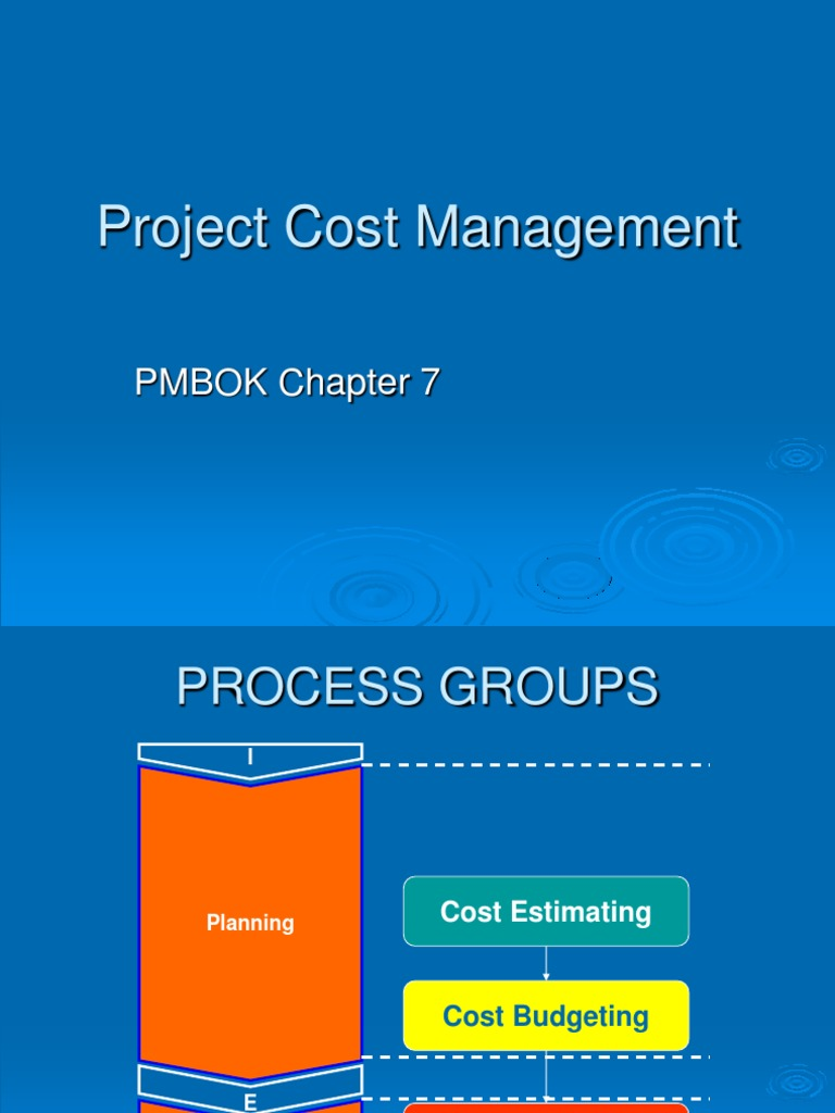 Project-Cost-Management ppt | Cost Accounting | Production And