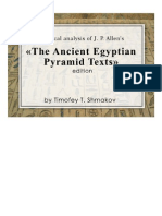نصوص الاهرام THE ANCIENT EGYPTIAN PYRAMID TEXTS by Timofey T. Shmakov Upload by (Dr-Mahmoud Elhosary)