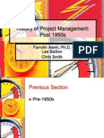History of Project Management Part Two
