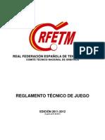 Reglamento Tecnico de Juego 2011 2012