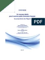 Synthèse - Un nouveau destin pour le service public ferroviaire français