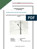 Proyecto Snip Aprobado Electrificacion de La II Etapa Del Aa. Hh. Nuevo Chao