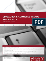Global B2C E-Commerce Trends Report 2013 by yStats