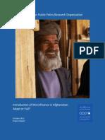 Micro-Finance in Afghanistan